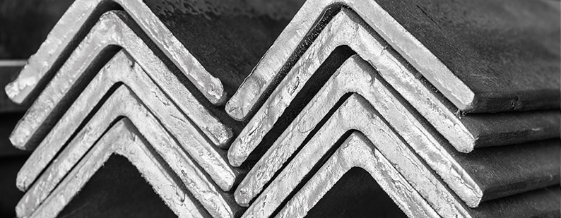 Stacked steel angle bars